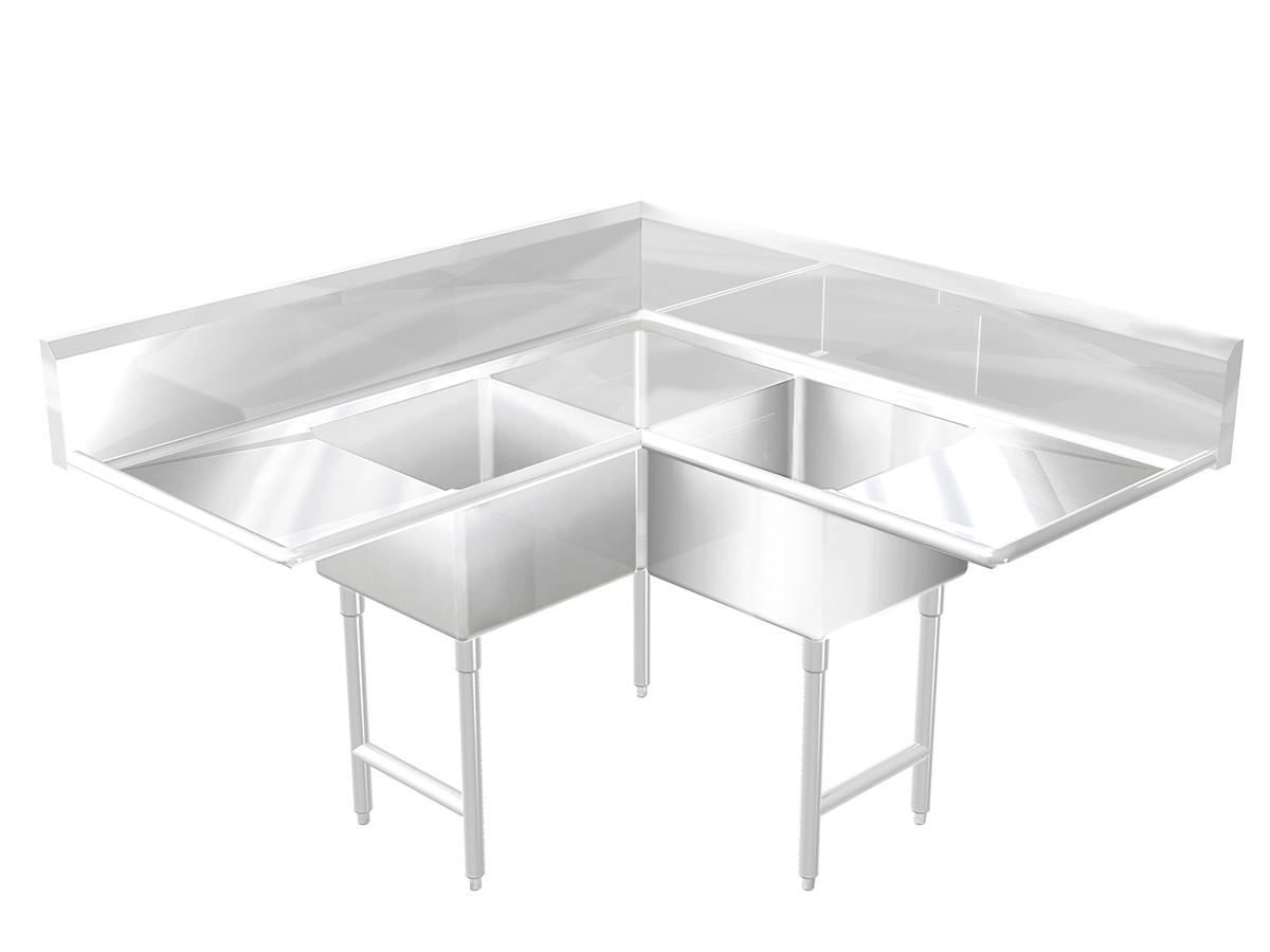 L Shaped Sink Custom Best Sheet Metal Inspiration Design